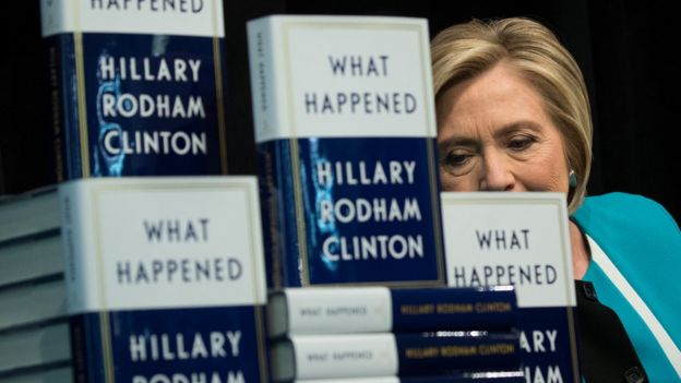 Hillary Clinton at a book signing.