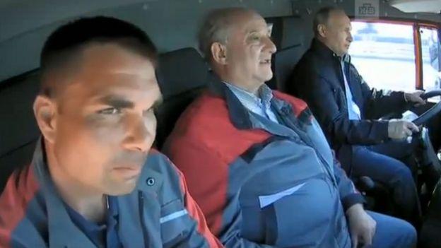 Путин в Камазе