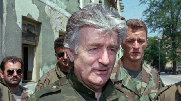 Radovan Karadzic in August 1995