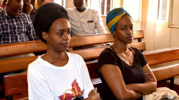Diane Rwigara aregwa hamwe na murumuna we Anne Rwigara (iburyo) n'umubyeyi wabo Adeline Rwigara