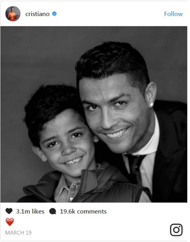 Ronaldo na mwanawe