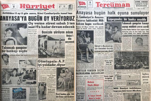 9 Temmuz tarihli gazeteler: 2. Cumhuriyet'in anayasası oylanıyor.