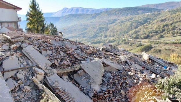 Casa destruida en L'Aquila