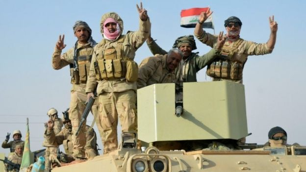 Iraqi forces when they recaptured Rawa's control in the hands of EI last month.