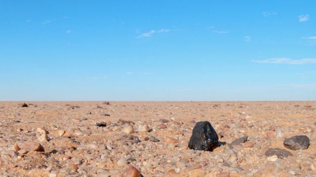 Restos del meteorito 2008 TC3