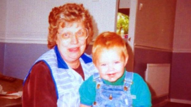 Brenda Grant and her grandson