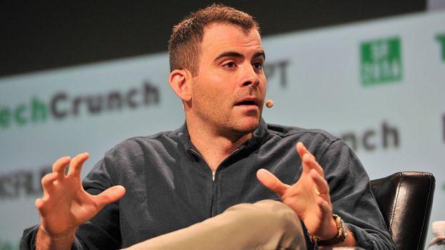 La imagen de Adam Mosseri, responsable de producto de Facebook, en San Francisco.