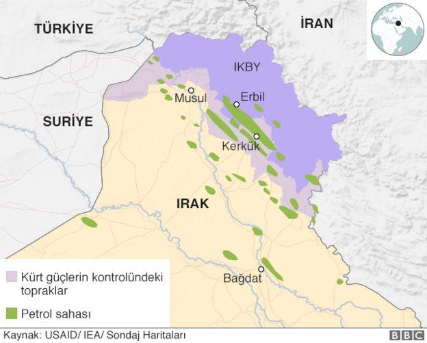 Irak petrol haritası
