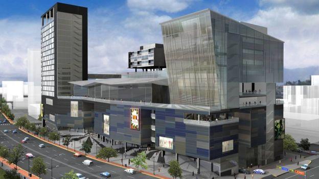 Proyección del centro comercial y empresaria