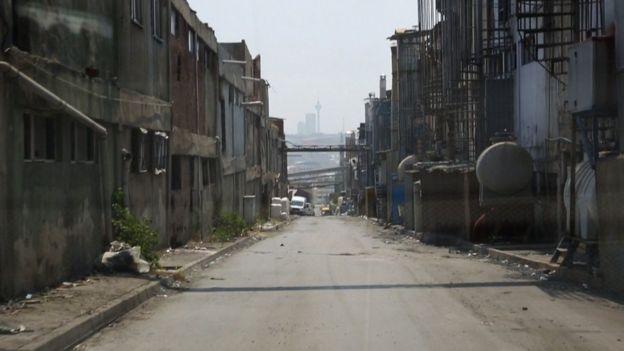 Área de fábricas em Istambul