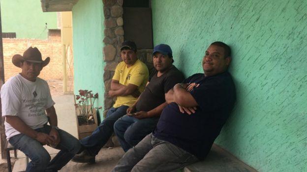 Fidel Rivera e outros moradores de San Luis Potosi