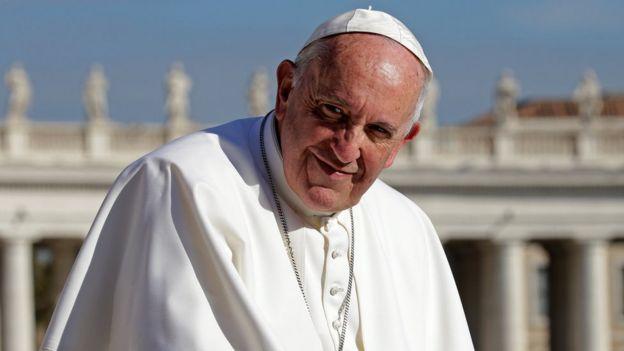 Pope Francis at the Vatican November 22, 2017