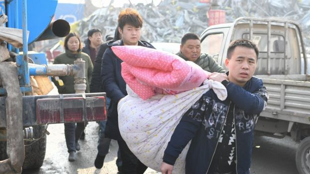 外地到北京的打工者搬離住所
