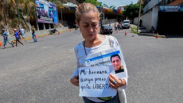 Familiar de un preso en Helicoide, Venezuela.