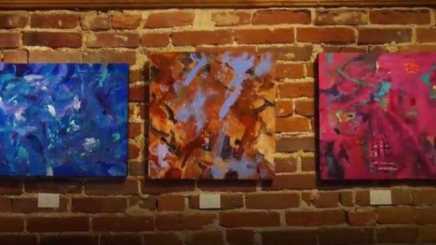 Three paintings by Metro