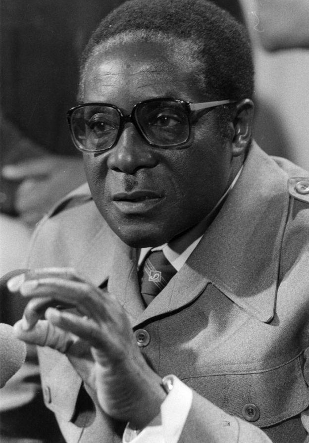 Robert Mugabe in London during talks on Rhodesia in September 1979