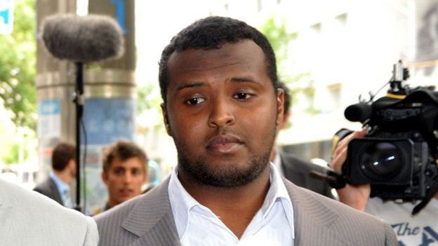 Yacqub Khayre after a court appearance in Melbourne in 2010