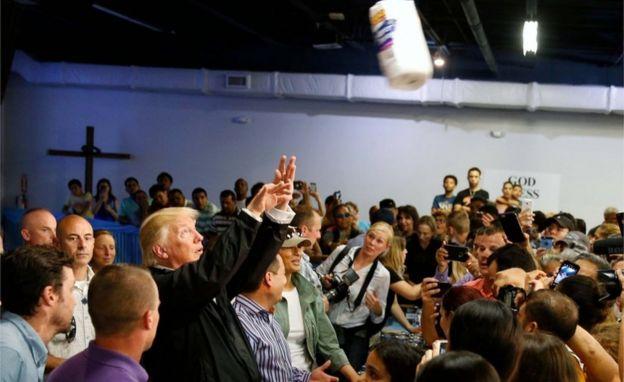 Trump en Puerto Rico.
