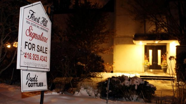 A For Sale sign outside the Toronto home of Barry Sherman and his wife Honey. 15 Dec 2017