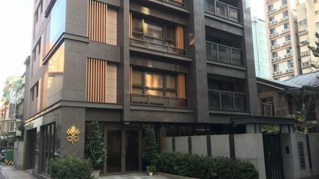 位於台北市區內的教廷大使館。從1971年起,梵方改為代辦來台辦理事務。