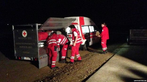 The Red Cross prepares for migrants attempting to travel to Germany
