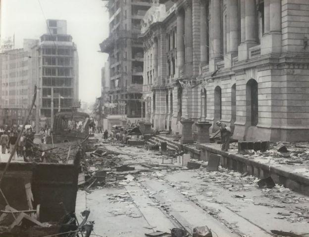 Destrucción durante el Bogotazo