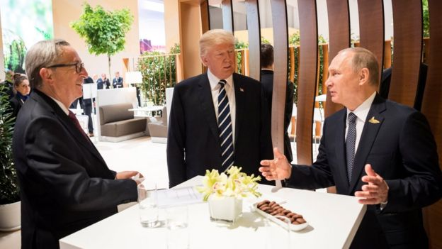 Путин, Трамп и Юнкер
