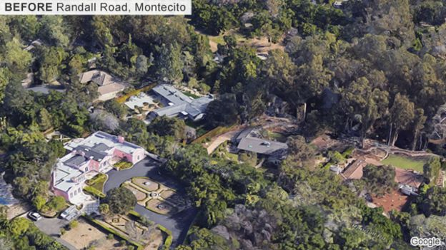 Image of Montecito before the mudslides