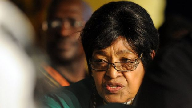 Winnie Mandela, former wife of former South African President Nelson Mandela attends the opening of the 53rd National Conference of the African National Congress (ANC) on December 16, 2012 in Bloemfontein.