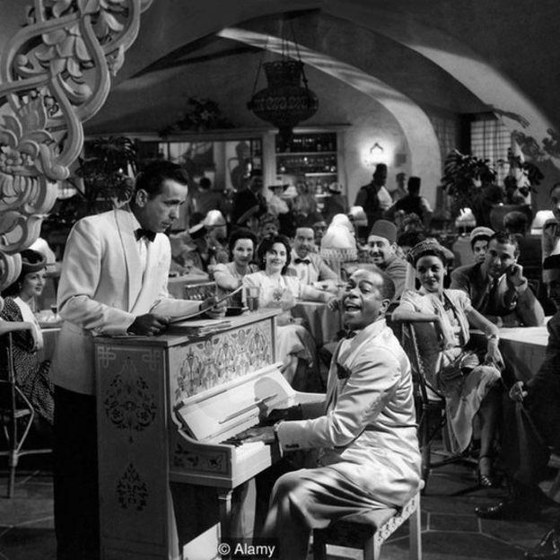 Humphrey Bogart y Dooley Wilson. (Foto: Alamy)