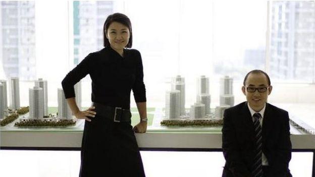 中国地产大亨潘石屹夫妇