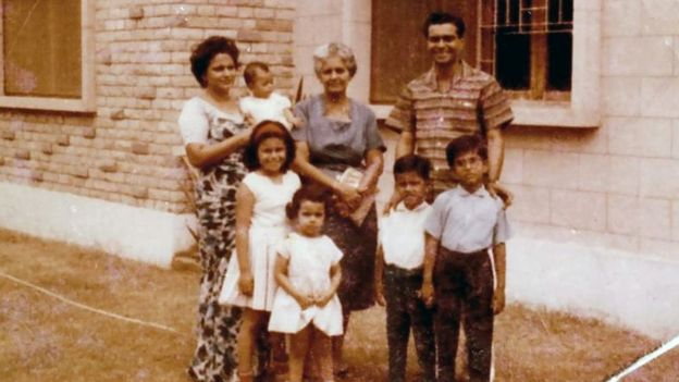 Carl Rodrigues e sua família