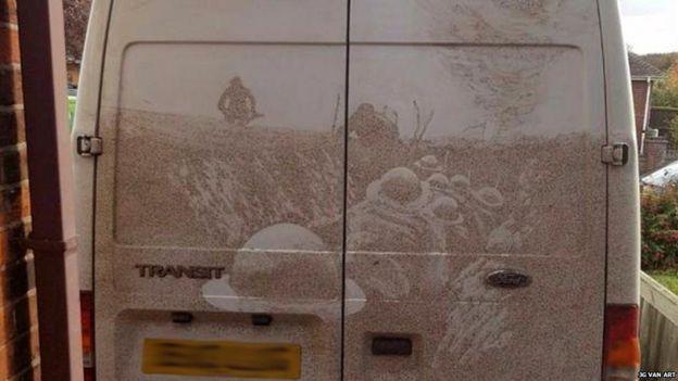 Картина на фургоне