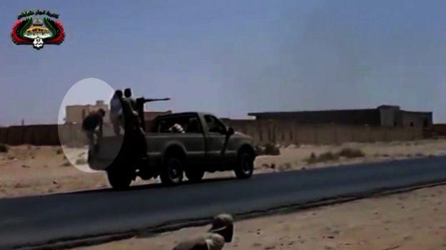 TV footage of fighting in Libya