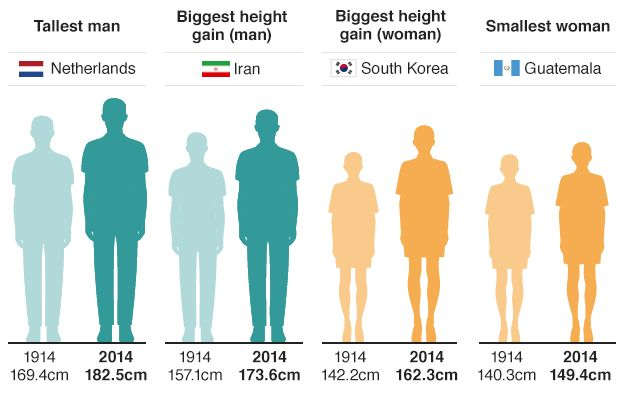 average female height australia