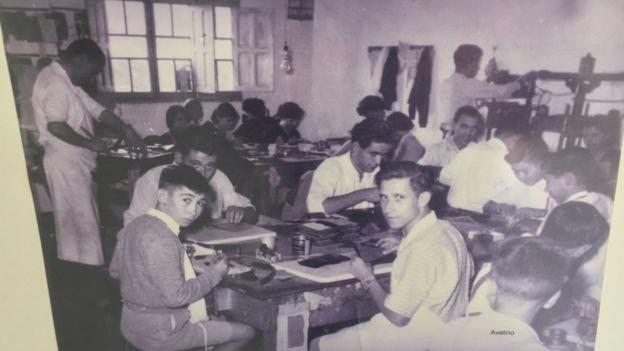 Trabalhadores no passado