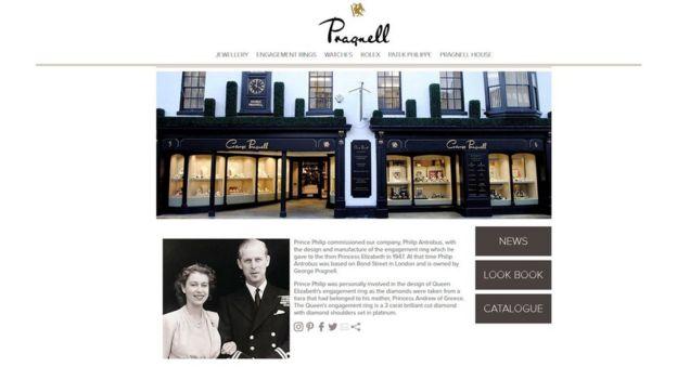 Главная страница сайта фирмы George Pragnell