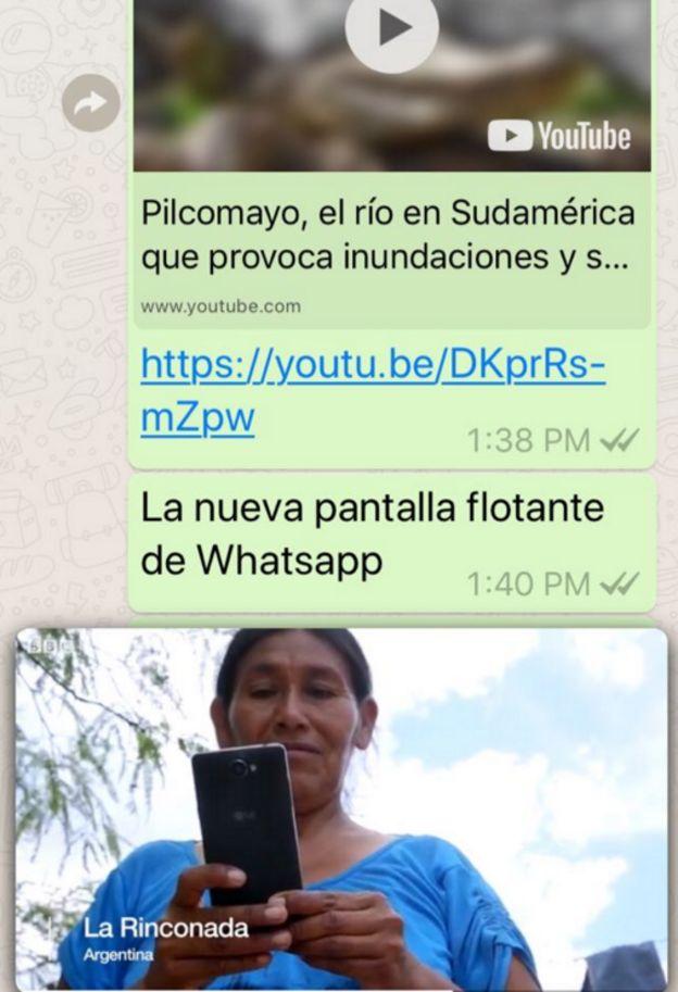 Pantalla de Whatsapp