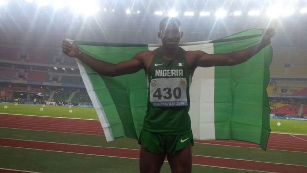Tosin Oke at the All Africa Games in 2015