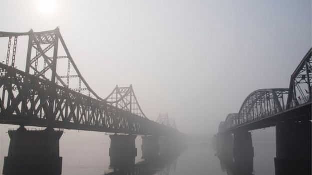中朝邊境的大橋