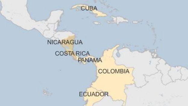 Cuba Blames US For Migrant Crisis At Costa Rica Border BBC News - Us map of costa rica