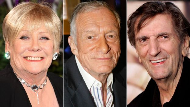 Liz Dawn, Hugh Hefner and Harry Dean Stanton