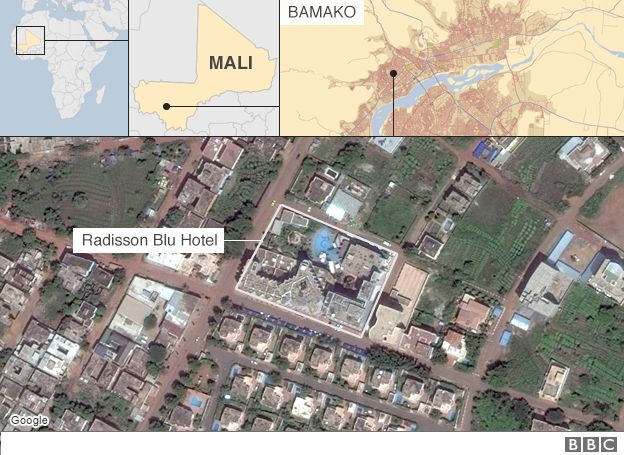 Mali Attack Special Forces Storm Hotel To Free Hostages BBC News - Us embassy attacks map