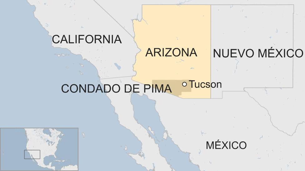 Mapa del condado de Pima, Tucson.