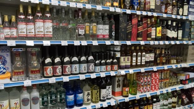 Alcohol for sale in Pyongyang