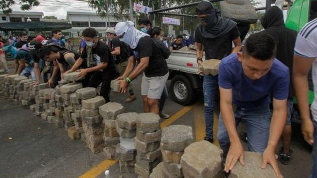 Manifestantes en Managua