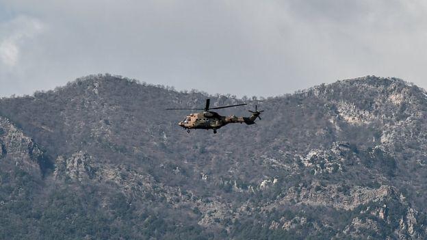 Zeytin Dalı Harekatı'nda yer alan, TSK'ya ait bir helikopter (Arşiv fotoğrafı)