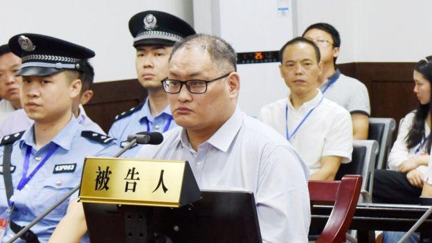 9月11日上午,被告人李明哲顛覆國家政權一案在湖南省岳陽市中級人民法院一審公開開庭審理。圖為庭審現場。