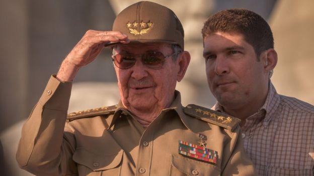 Raúl Castro y Raul Rodriguez Castro