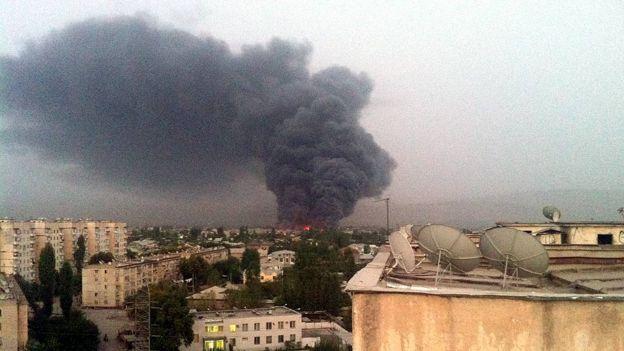 آتشسوزی تاجیکستان